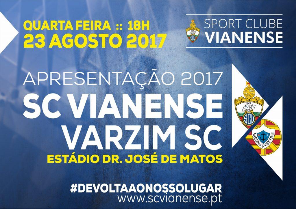 Apresentação: SC Vianense – Varzim SC, dia 23 às 18h00