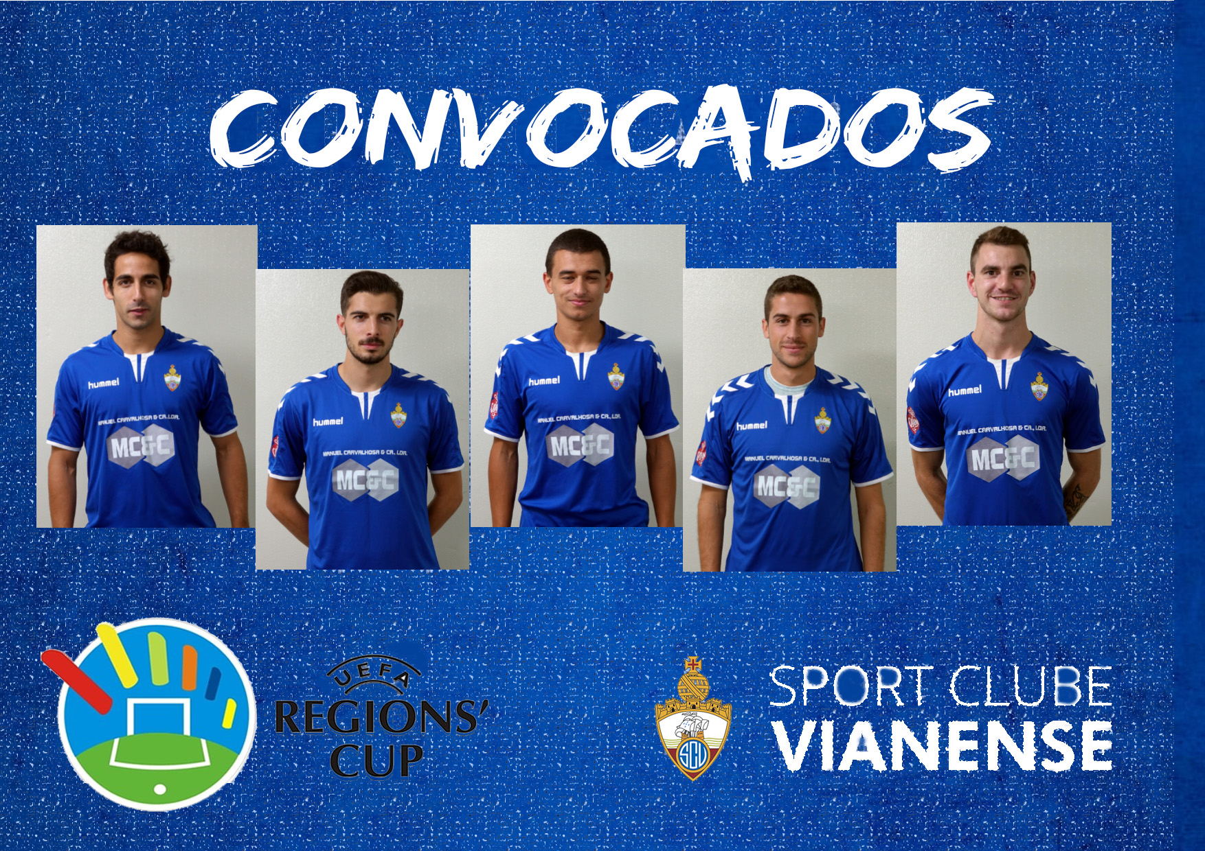 Taça de Regiões FPF – UEFA: 5 Atletas do SC Vianense convocados para a Seleção Distrital Sénior
