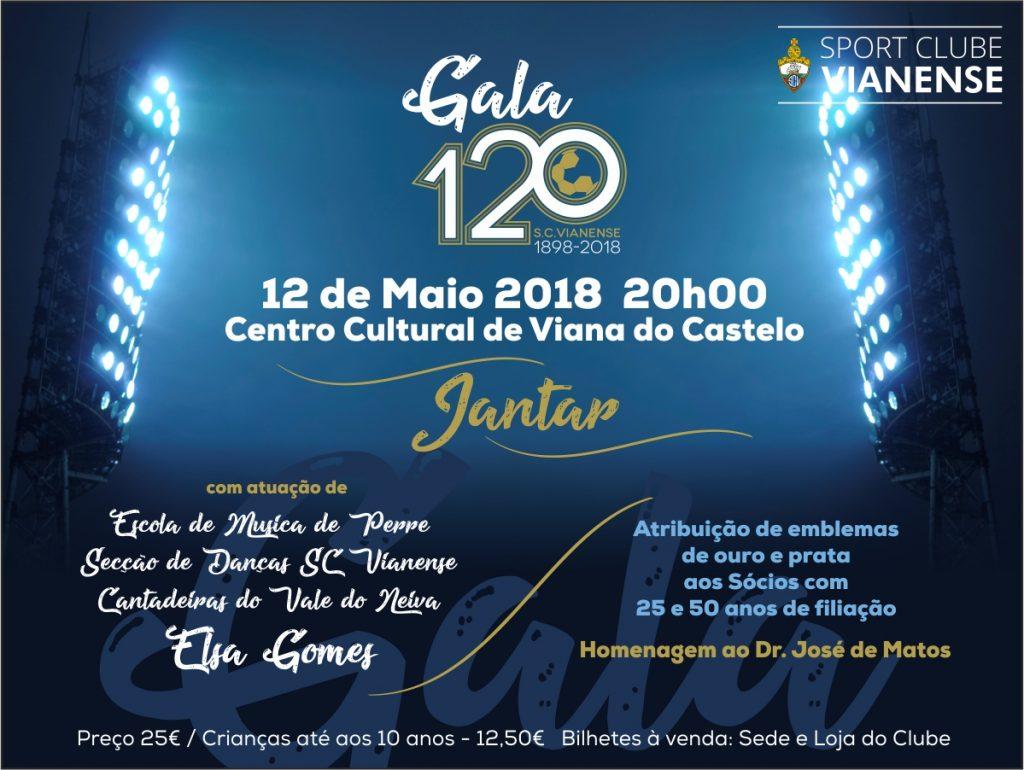 Gala dos 120 anos do SC Vianense é já no próximo dia 12