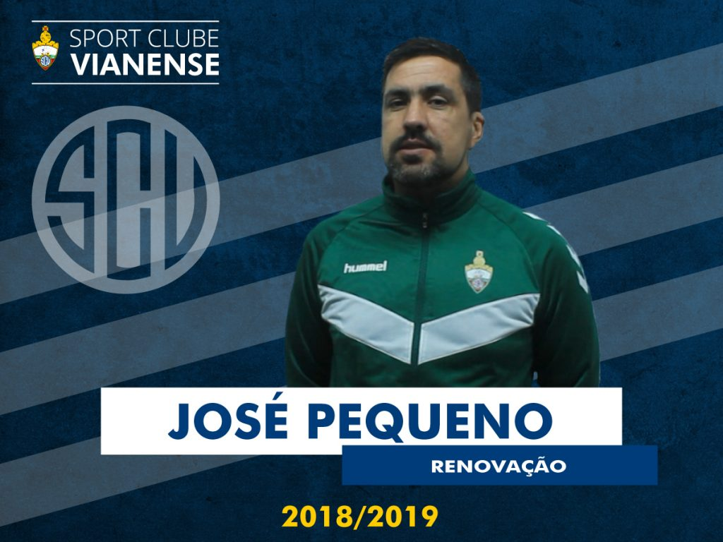 José Pequeno continua como Treinador da equipa principal