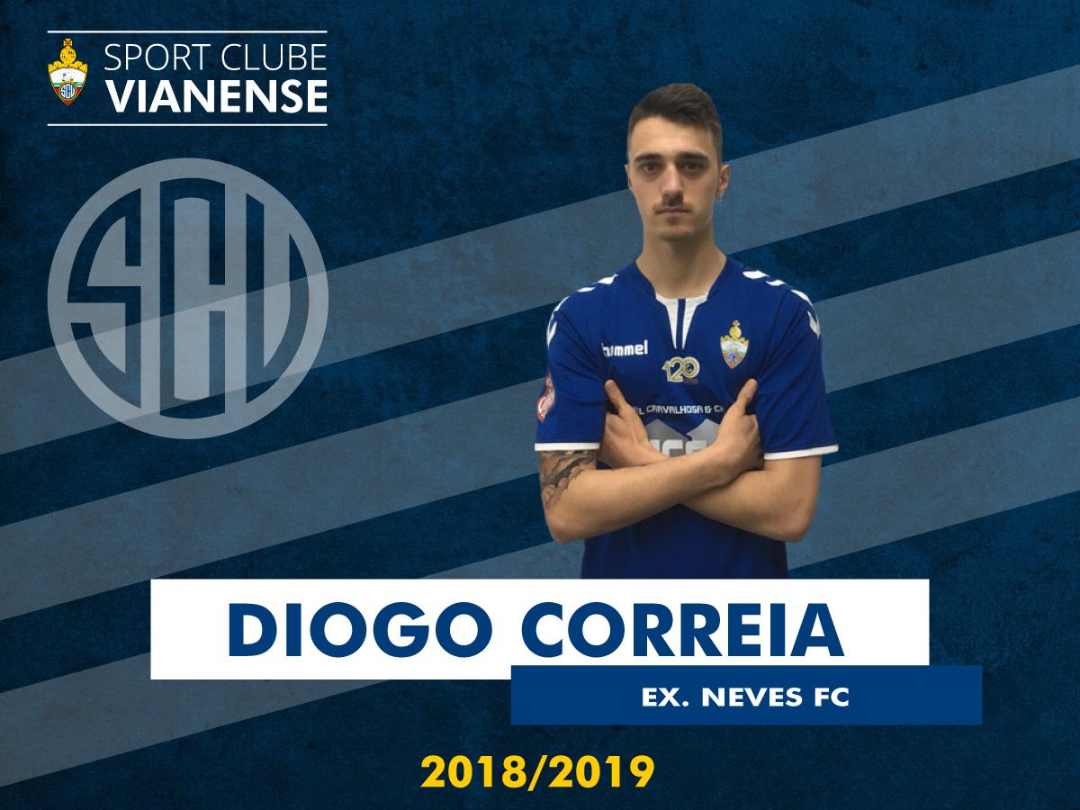 Diogo Correia (ex Neves) é jogador do SC Vianense!