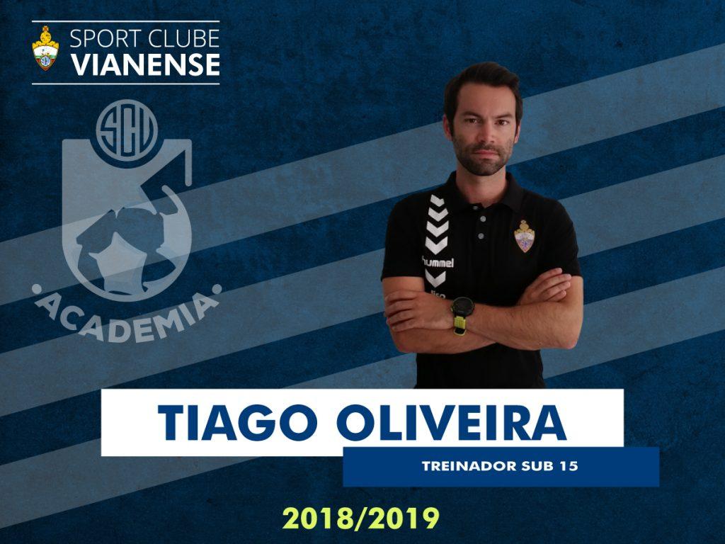 Tiago Oliveira orientará os Sub15