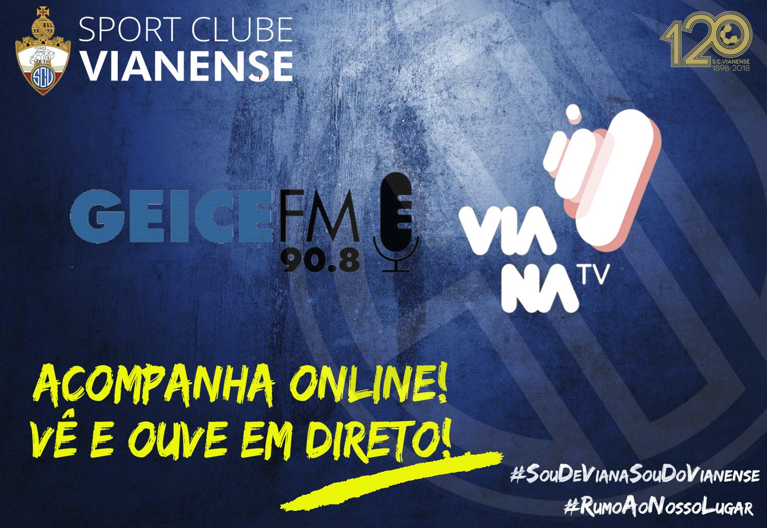 Jogos do SC Vianense com transmissão video em direto!