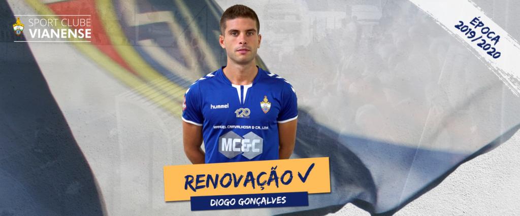 Diogo Gonçalves continua em 2019/2020