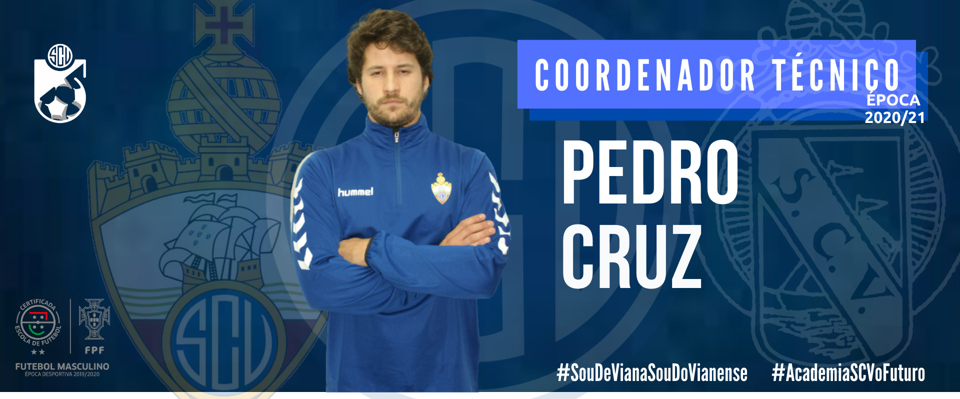 Pedro Cruz é o novo Coordenador Técnico da Academia do SC Vianense