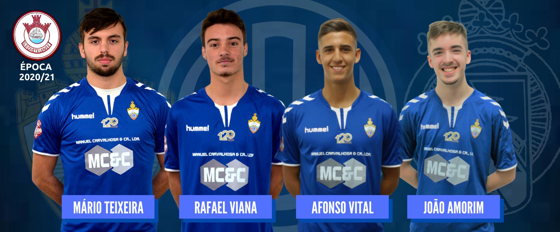 Mário, Rafa, Afonso e Duda emprestados ao GD Castelense!