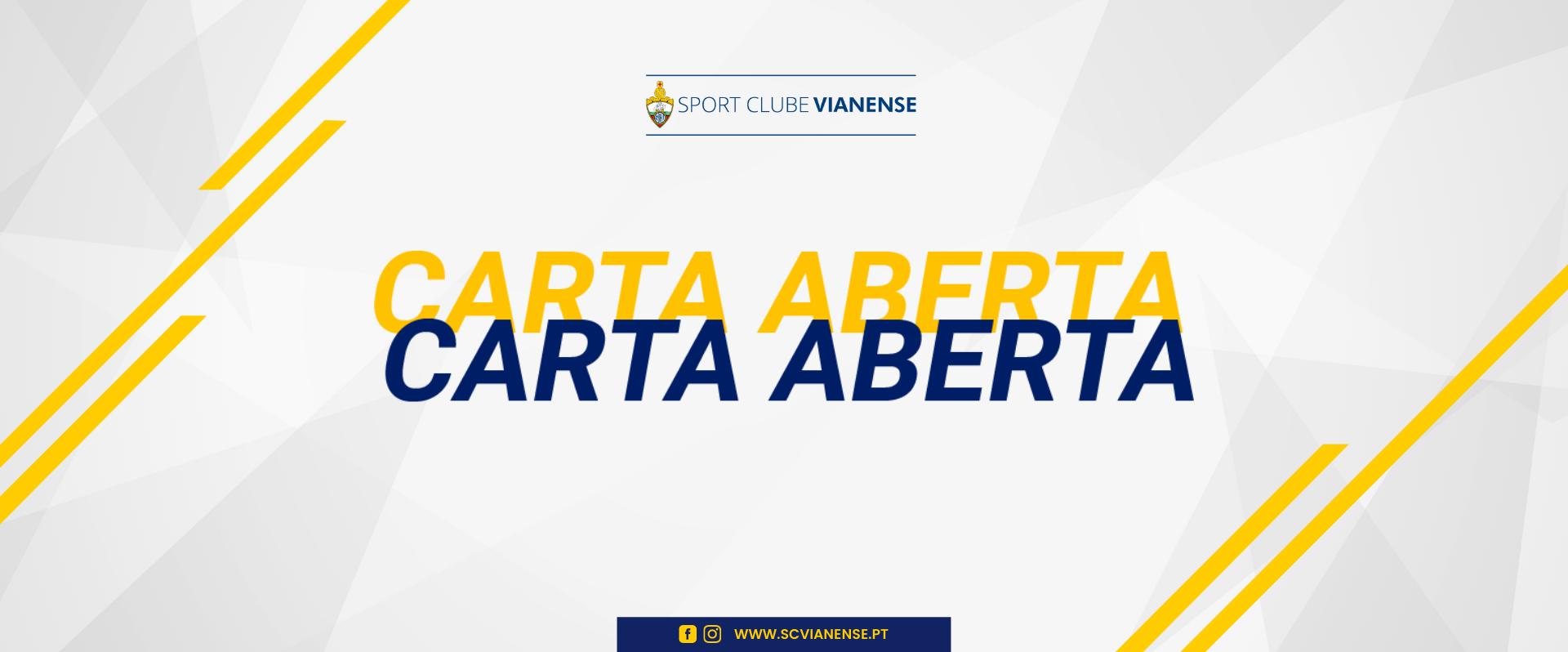Carta Aberta da Direção do Sport Clube Vianense